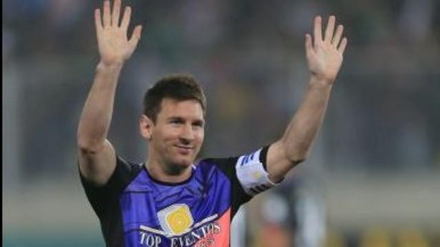 Messi, during the game. PHOTO: Lino Chipana / El Comercio