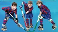 Tres jugadores de la FCBEscola