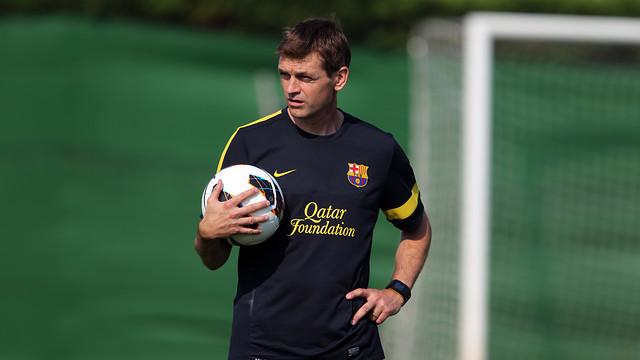 Tito Vilanova in a training session / PHOTO: ARXIU FCB