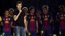 Tito Vilanova, speaking to the fans / PHOTO: FCB ARCHIVE