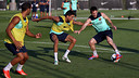 Leo Messi and Marc Bartra / PHOTO: MIGUEL RUIZ - FCB