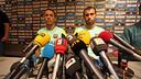 Adriano i Mascherano, en roda de premsa / FOTO: MIGUEL RUIZ-FCB