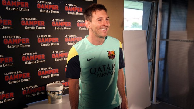 Messi, during the naking if the Joan Gamper ad. PHOTO: MIGUEL RUIZ-FCB.