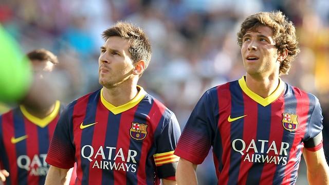 Leo Messi and Sergi Roberto in Oslo PHOTO: MIGUEL RUIZ