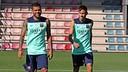Neymar, with Alves / Photo Miguel Ruiz