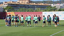 Minute of silence for Antoni Ramallets  / PHOTO: FCB