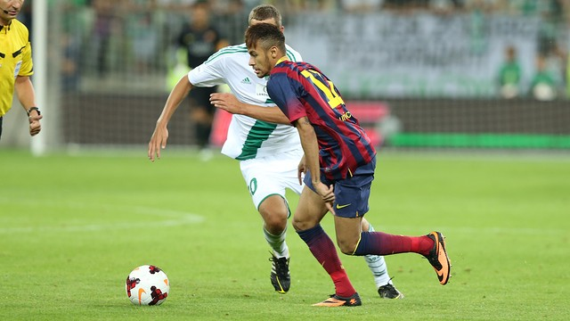 Neymar, during the game / PHOTO: MIGUEL RUIZ-FCB