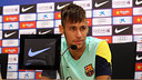 Neymar Júnior during teh press conference / PHOTO: MIGUEL RUIZ - FCB