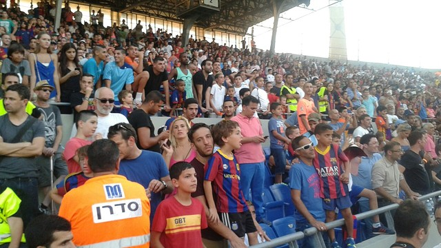 The Bloomfield Stadium was packed for FC Barcelona's visit / PHOTO: FCB