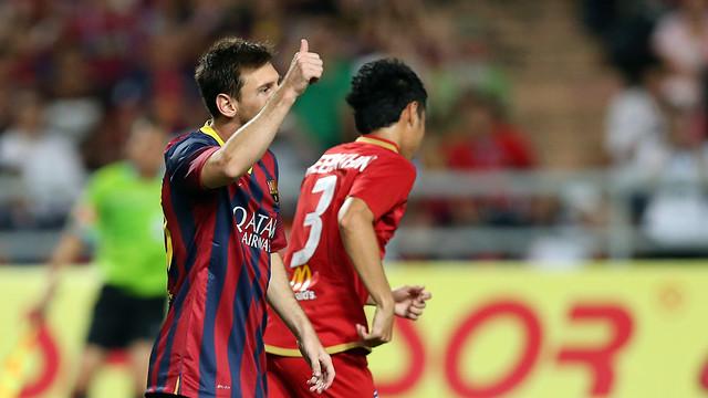 Messi, in action against Thailand / PHOTO: MIGUEL RUIZ - FCB