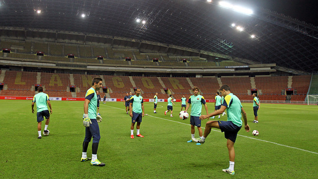 The team training on Thursday in Kuala Lumpur / PHOTO: MIGUEL RUIZ-FCB