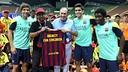 Presentation in the Shah Alam Stadium, Kuala Lumpur. PHOTO: MIGUEL RUIZ / FCB