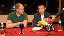 Josep Maria Bartomeu and Andoni Zubizarreta / PHOTO: MIGUEL RUIZ - FCB