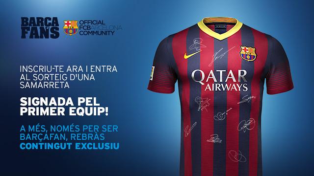 sorteig samarreta barça fans