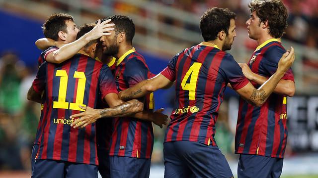 Barça have scored 27 goals in six preseason friendlies / PHOTO: MIGUEL RUIZ - FCB
