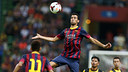 Sergio Busquets in the match against the Malaysia XI team / PHOTO: MIGUEL RUIZ - FCB