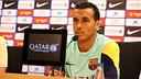 Pedro, in Friday's press conference / PHOTO: MIGUEL RUIZ - FCB