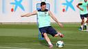 Messi, a l'entrenament d'aquest divendres / FOTO: MIGUEL RUIZ - FCB