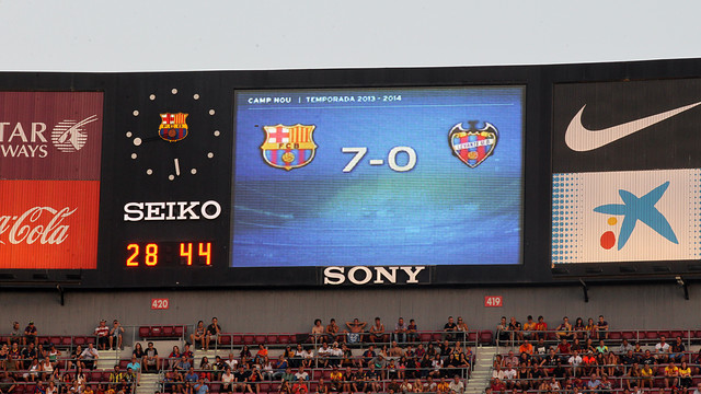 Barça made it 7-0 with much of the game still to play / PHOTO: MIGUEL RUIZ-FCB