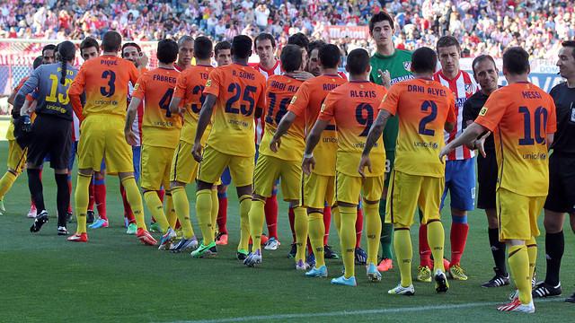 Atlético and Barça faced off at the Calderón last season, the final result was 1-2 / PHOTO: MIGUEL RUIZ-FCB