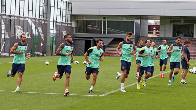 The players at training. PHOTO: MIGUEL RUIZ - FCB