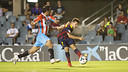 Joan Román scored Barça B's opener against Lugo / PHOTO: VÍCTOR SALGADO - FCB