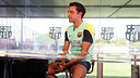 Xavi Hernández spoke to teh media when he marked 15 years in teh first team. / PHOTO: MIGUEL RUIZ - FCB