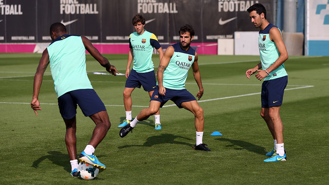 A moment from Saturday's training session / PHOTO: MIGUEL RUIZ - FCB