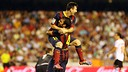 Messi and Cesc PHOTO: MIGUEL RUIZ
