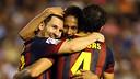 Messi, Neymar and Cesc at Valencia / PHOTO: MIGUEL RUIZ - FCB