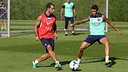 The players in this week's final training session / PHOTO: MIGUEL RUIZ - FCB