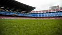 The new turf at the Camp Nou/ PHOTO: VÍCTOR SALGADO - FCB