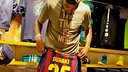 Kevin Durant, wearing the Barça shirt.