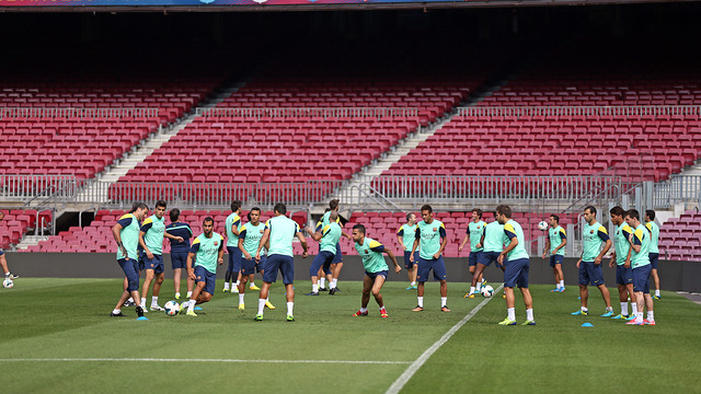 The squad's final training session ahead of tonight's game / PHOTO: MIGUEL RUIZ - FCB