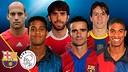 Diversos jugadors del Barça que han fet el viatge d'anada i tornada