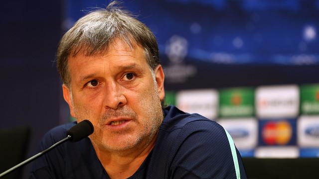Gerardo Martino during his press conference. PHOTO: MIGUEL RUIZ - FCB