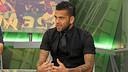 Alves, durant el programa El Marcador / FOTO: MIGUEL RUIZ-FCB