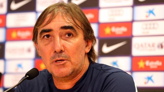 Jorge Pautasso speaking to the press / PHOTO: MIGUEL RUIZ-FCB