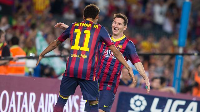 Messi i Neymar, contra la Reial Societat / FOTO: GERMÁN PARGA - FCB