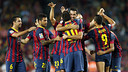 Celebrating one of the four goals / PHOTO: MIGUEL RUIZ - FCB