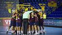 The players celebrating after the win / PHOTO: VÍCTOR SALGADO - FCB
