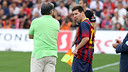 Martino talks to Messi / PHOTO: MIGUEL RUIZ-FCB