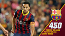 Xavi has made more league appearances than any other player in the history of the Club