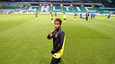 Neymar in Celtic Park. PHOTO: MIGUEL RUIZ-FCB.