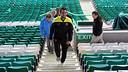 Cesc, a Celtic Park. FOTO: MIGUEL RUIZ-FCB.