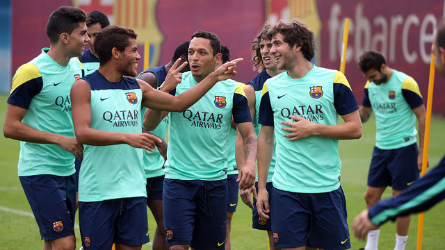 Friday morning training. PHOTO: MIGUEL RUIZ-FCB.