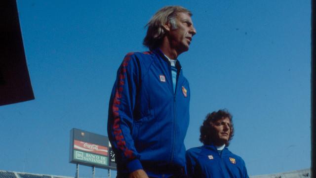 César Luis Menotti, al Camp Nou, l'any 1983 / FOTO: SPORT