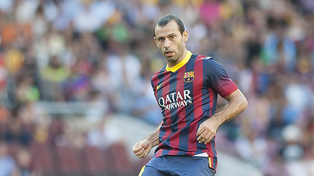 Mascherano in action / PHOTO: ARXIU FCB