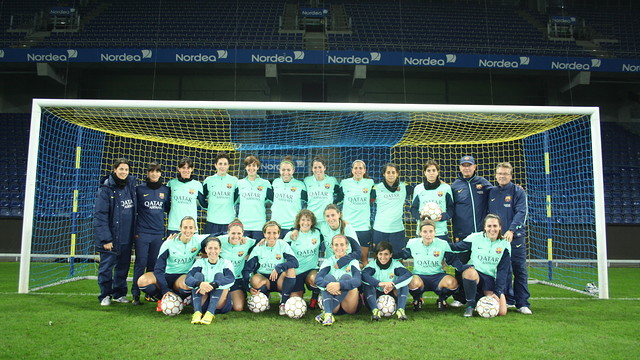 The women's team at Brondby Stadium / PHOTO:FCB