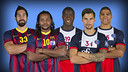 Karabatic,Sorhaindo,Abalo,Honrubia and Narcisse/PHOTO:PsgHandball-FCB
